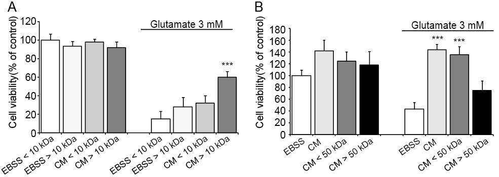 Results 78 50 kda reached the same protective effect as non-filtered CM that was used as a positive control in this experiment (Figure 26 B).