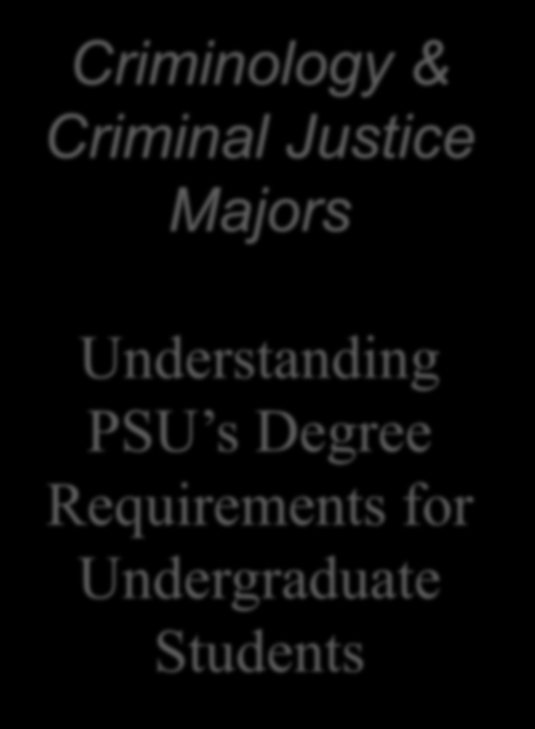Requirements for Undergraduate