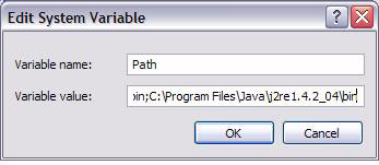 Configuring Windows 2000 and XP PATH Environment Variable (required) 1. Right click on the My Computer icon and select Properties, then click on the Advanced tab. 2. Click on Environment Variables to set the path system variable.