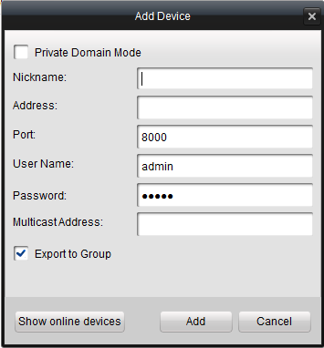 4.3.1 Adding Device Steps: 1. Click Control Panel>Device Management to enter the Device Management page: Figure 4.15 Device Management Page 2.