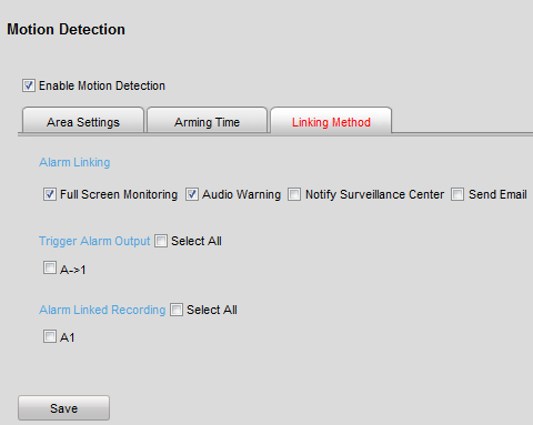 Figure 8.9 Motion Detection-Edit Arming Schedule (3) Choose the day you want to set the arming schedule. (4) Click the button to set the time period for the arming schedule.