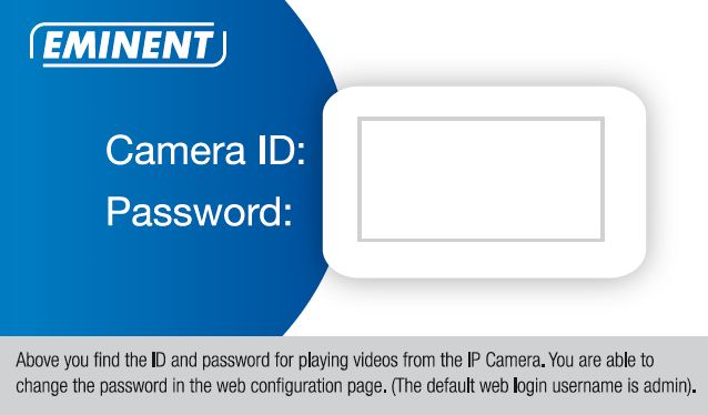 12 ENGLISH 8. Camera name: Enter a description of the camera (example: front door) 9. CamID: Enter the ID provided on the ID/Password card. 10.