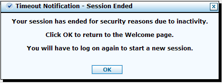 If you step away from your PC or stop working in the Provider Portal for more than 30 minutes, the system will log you out, and you ll receive a Timeout Notification Session Ended message.