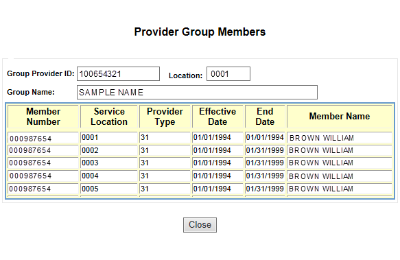 Layout 6.39.1 Accessibility and Use To access and view the epeap Provider Group Members window, complete the steps in the following step/action tables.
