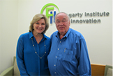 Emergent Medical Partners (EMP-Ⅱ) offices in Silicon Valley Dr. Thomas J. Fogarty (right) and FII CEO Ms.