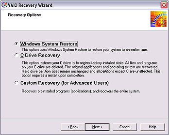 To use the Windows System Restore feature The Windows System Restore feature rolls your computer's system software back to an earlier, working state. 1.
