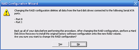 If you are using hard disk drives that vary in size, note that the RAID configuration is set to the size of the smallest drive. 10. Select one of the three options, and click Next.