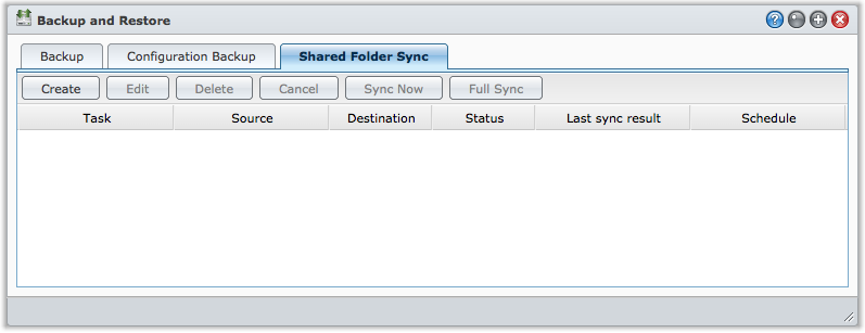 Synchronize Data between Primary and Backup Server DSM's Shared Folder Sync function can automatically synchronize shared folders contents between the primary and backup server.