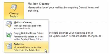 Opening an archive file Introduction By default, when you use Outlook at LSE, you are reading and managing messages which are held in a storage area known as your Mailbox.