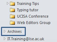 Click on the drop-down arrow alongside Archive items older than: and select a date.