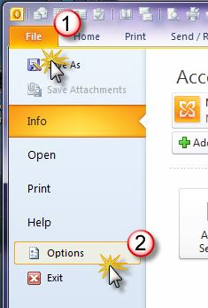 Outlook 2010 and Outlook 2013 In Outlook 2010 and 2013, AutoArchive is turned off by default and must be turned on by the user. Here s how: 1.