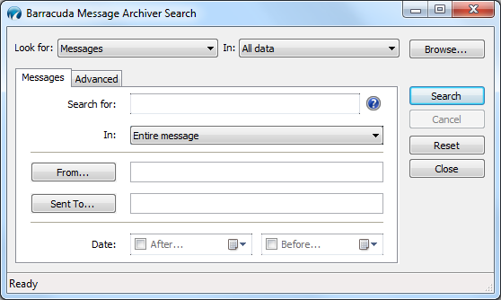 Using the Barracuda Message Archiver Outlook Add-In If the Barracuda Message Archiver administrator has deployed the Barracuda Message Archiver Outlook Add-in, the tools display in the Outlook