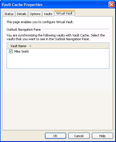 14 Setting up Enterprise Vault Showing or hiding your Virtual Vault Showing or hiding your Virtual Vault Your Virtual Vault normally appears automatically in the Outlook Navigation Pane after your