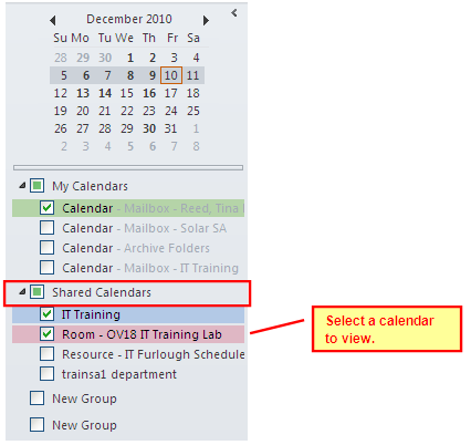 Sharing a Calendar Folder Outlook Exchange allows users to share their Calendar Folder with other Exchange users and provides several permission level options that can be assigned to individuals they
