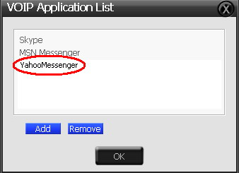 4. Your VOIP application has been added into list. 5. Check the check box of ChatEX and Magic Voice. 6.
