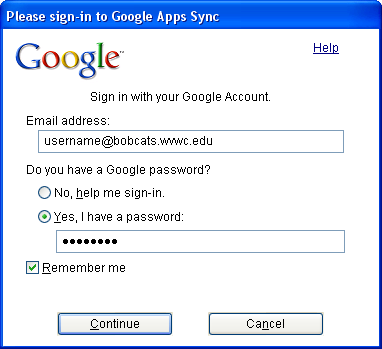 Migrating From Bobcat Mail To Google Apps (Using Microsoft Outlook and Google Apps Sync) This document is intended for those users moving from WVWC s Bobcat Mail system to the new Google Apps mail