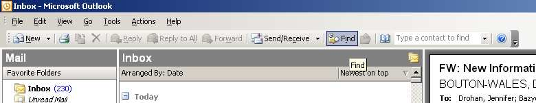 2. Using the search/ find feature. Quickly locating emails and attachments is an essential part of navigating Outlook.