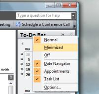 Slide 23 To-do bar optimization (1) You can change the reading pane to your needs.