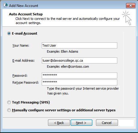 2. Access Email User Guide Figure 1: Add a new email account 2.2 Outlook Web Access (OWA) OWA is a good alternative to Outlook when working remotely.