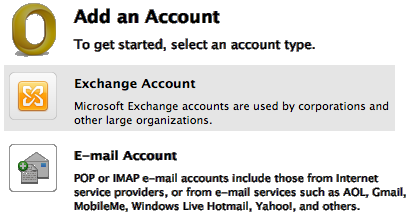 2. Access Email User Guide Figure 3: Add a new email account in Mac Outlook 2.
