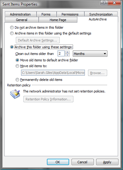 Auto Archiving 1. In Outlook, right click the folder that you wish to archive. 2. Go to the AutoArchive tab and select Archive this folder using these settings. Edit the Clean out items older than.