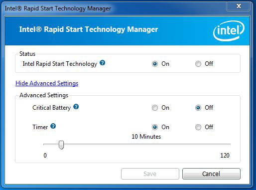 Step 5 Make sure Rapid Start is on. Drag the slider to configure the time.