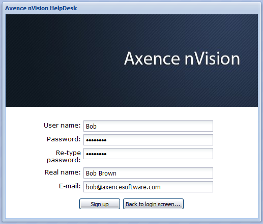 203 Axence nvision Help Creating account by the administrator Creating accounts in nvision is described in chapter User management.