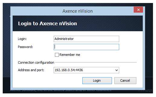 293 Axence nvision Help When the Console is installed and the nvision installation folder is added to the scanned exclusions of the anti-virus software, the software can be