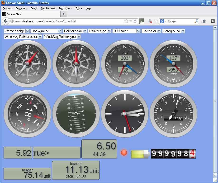 html Extra Gauges: http:www.wilmslowastro.