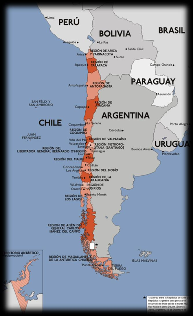 Chilean Economy (2013) Inhabitants 16,7 Millions GDP US$ 280.7 billions GDP per capita US$ 18,945 PPP US$ 22,500 Main Cities: Santiago (Capital 7,5 Mill.