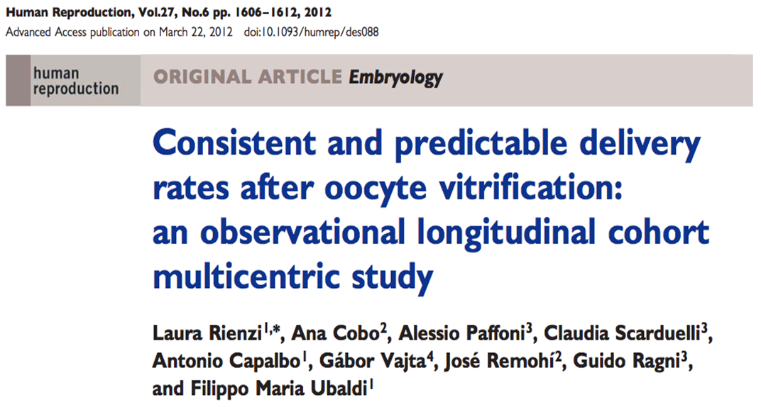 Oocyte vitrification: results Oocyte vitrification: results Centre 1: Centre 2: Centre 3: IVI Valencia GENERA Rome Mangiagalli Milan 462 oocyte warming cycles and