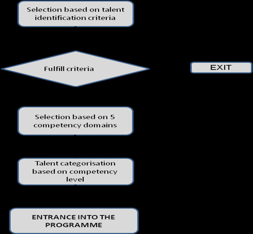 NO YES Figure 3: Process of Talent Selection and Categorization