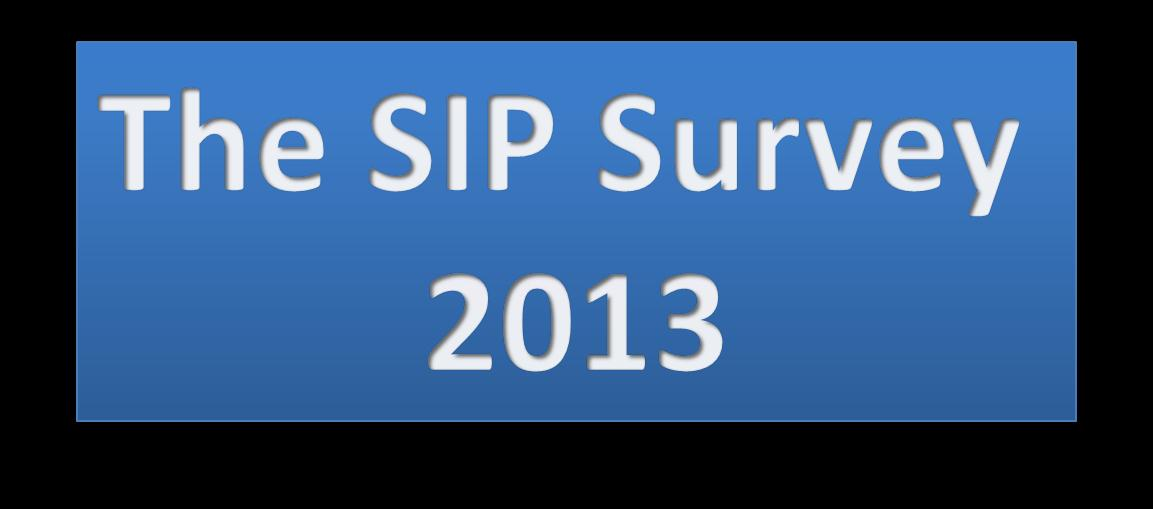 Tuesday, May 28, 2013 Survey and Thought Leadership: SIP Trunking is what everyone is talking about but if we can t