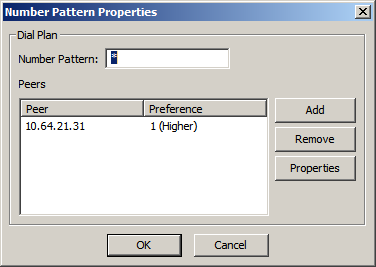 Step Description 11. Number Pattern Properties On the Number Pattern Properties screen, configure as follows: Number Pattern Set this field to the pattern to match.