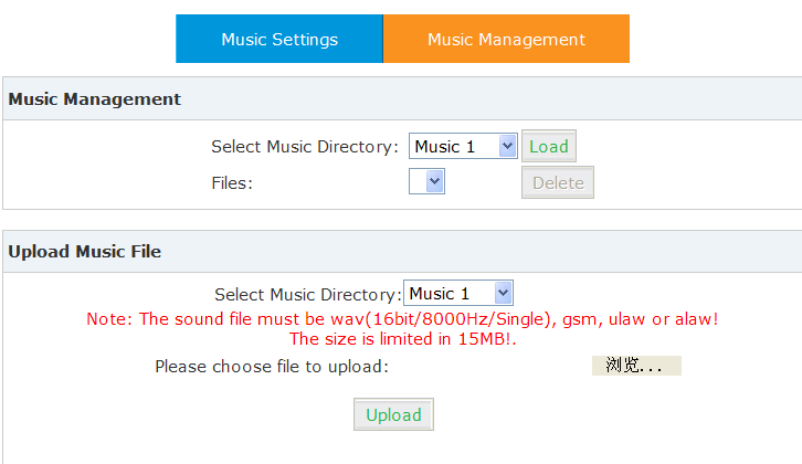 Item Select Music Directory File Select Music Directory Please choose file to upload Explanation Select which Music Directory you wish to load.