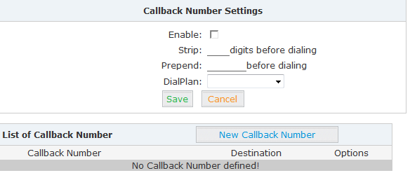 Check Enable and Save to make this function activate.