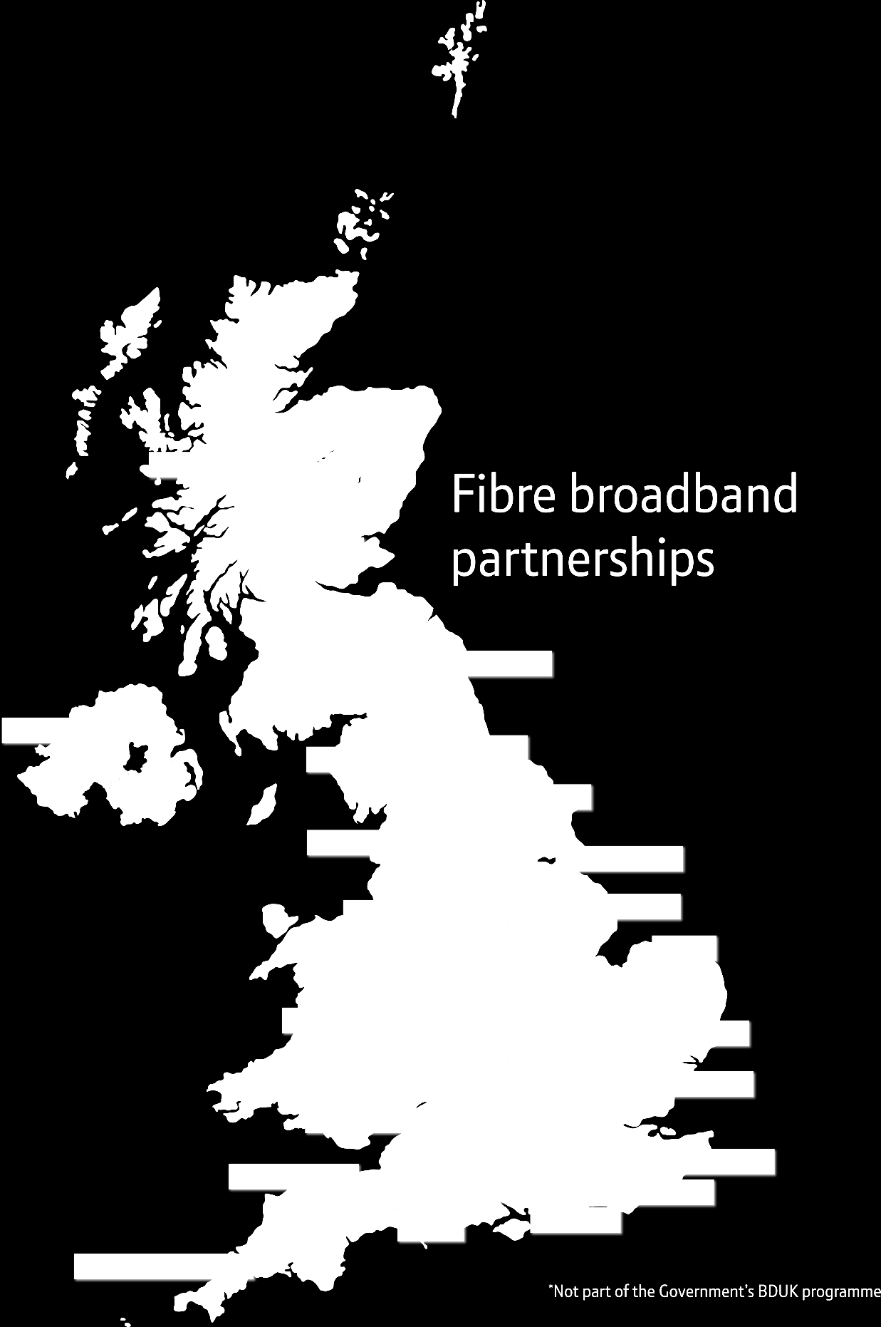 BDUK bids won @ August 2013 This map shows where Openreach have been successful in bidding to supply Superfast Fibre in BDUK locations (shown in