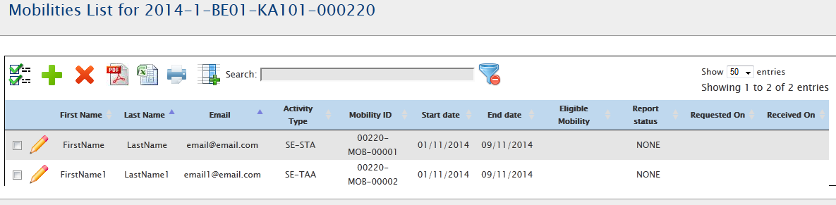 "6.2. How to add new mobility? Login to Mobility Tool+ and open your project details. Click ""Mobilities"" from the top menu. Select ""List Mobilities"" from the contextual menu."