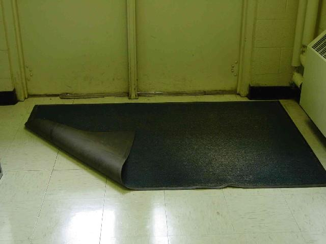 Slip, Trip and Fall Hazard PROBLEM Slip: if it is wet outside and the mat is folded back, then the floor is getting wet instead of the mat absorbing the water.