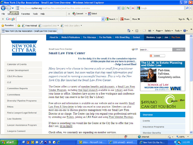 WEBSITE VERTISING EVENTS CALENDAR BANNER VERTISING Banner adverising is available on he New York Ciy Bar s Online Evens Calendar.