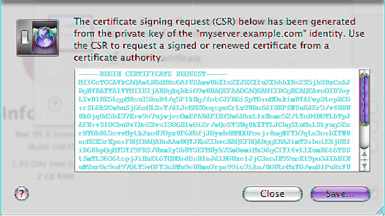 To obtain a valid signed certificate, you use a self-signed certificate to generate a certificate signing request (CSR) file, which you send to a certificate authority.
