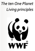 ONE PLANET PRINCIPLES The ten World Wildlife Fund principles of One Planet Living work for us; passive solar heating; chimney effect ventilation; solar panels; daylight; transpiration from plants to