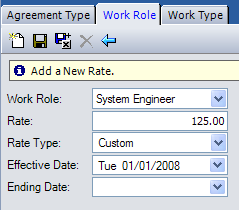 Work Role tab: The table on the following page defines the screen elements displayed on the Work Role tab.
