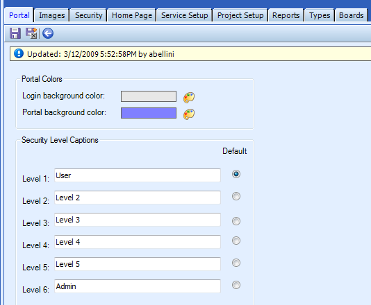 Table Name: Portal Configuration The Portal Configuration table is used to customize visual and functional user preferences.