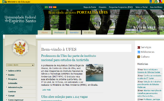 3.1 Proposal General Description 46 kept in the co-browsing context, where they were placed. For instance, Figure 3.4 shows an example of an annotated web page (www.ufes.br).