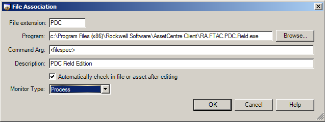 Create and Configure for Auto Check-in You may associate programs with particular file extensions.
