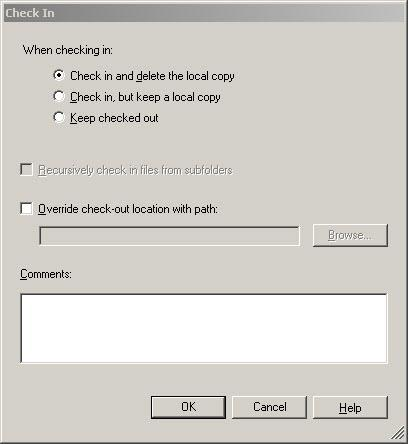 5. The PT10.PDC file is checked out of archive and launches with PDC Field Edition. 6. Close PDC Field Edition 7. The Check In dialog now displays.