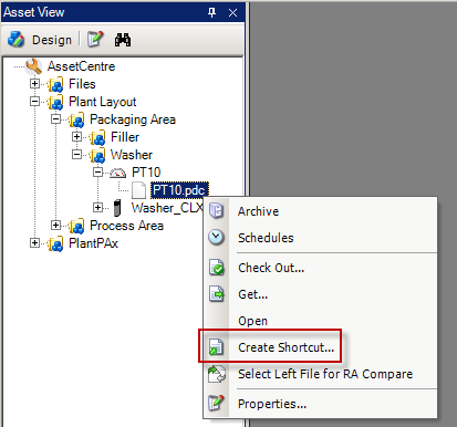 Using Desktop Shortcuts for Archive Files In this section of the lab, we will create a short-cut to automatically check a file out and in of archive without even having the AssetCentre Client opened.