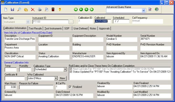 Verify Calibration in FactoryTalk AssetCentre Calibration Management 1.