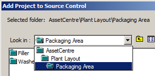 4. The Add Project to Source Control dialog will be displayed 5. Because this is a new line, we ll need to add a new area to the current asset tree.